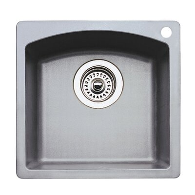 Diamond 15 x 15 Drop-In Kitchen Sink Finish: Metallic Grey