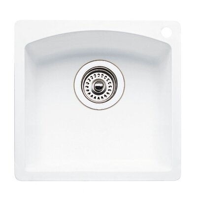 Diamond 15 x 15 Drop-In Kitchen Sink Finish: White