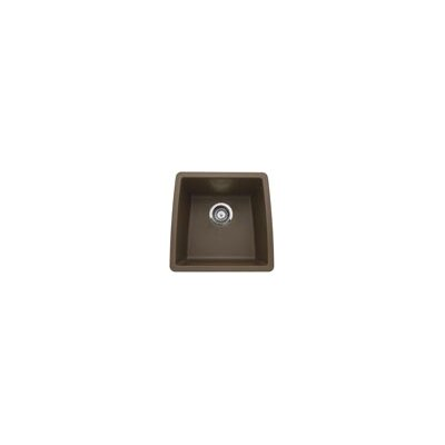 Performa 17.5 x 17 Silgranit II Single Bowl Undermount Bar Sink Finish: Cafe Brown