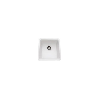 Performa 17.5 x 17 Silgranit II Single Bowl Undermount Bar Sink Finish: White
