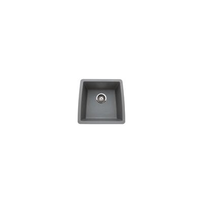 Performa 17.5 x 17 Silgranit II Single Bowl Undermount Bar Sink Finish: Metallic Gray