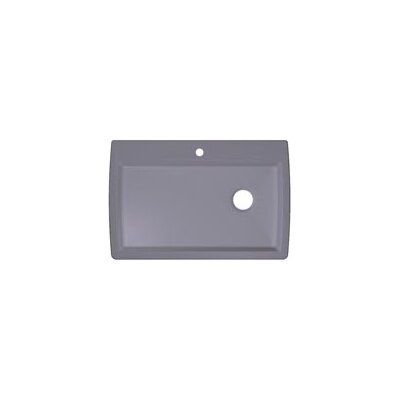 Diamond 33.5 x 22 Super Single Bowl Drop-In Kitchen Sink Finish: Grey