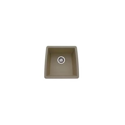 Performa 17.5 x 17 Silgranit II Single Bowl Undermount Bar Sink Finish: Truffle