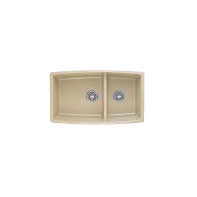 Performa 33 x 19 2 Basin Undermount Kitchen Sink Finish: Biscotti