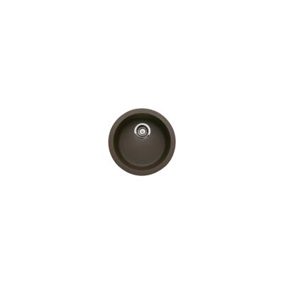 Rondo 17.69 x 17.69 Round Drop-In Bar Sink Finish: Cafe Brown