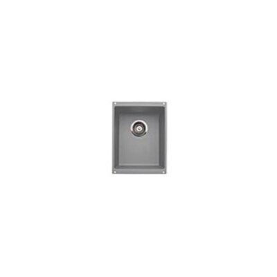 Precision 13.75 x 18 Medium Single Bowl Kitchen Sink Finish: Metalic Gray