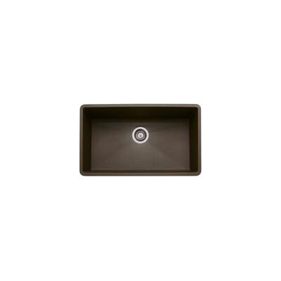 Precis 32 x 19 Super Single Bowl Kitchen Sink Finish: Cafe Brown