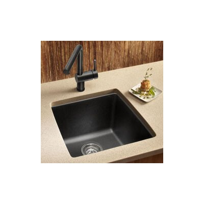 Performa 17.5 x 17 Silgranit II Single Bowl Undermount Bar Sink Finish: Anthracite