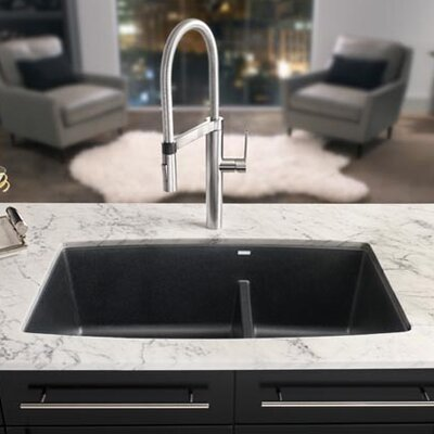 Performa 33 x 19 2 Basin Undermount Kitchen Sink Finish: Metallic Gray