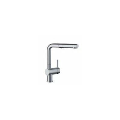 Linus Single Handle Kitchen Faucet with Pull Out Spray Finish: Satin Nickel