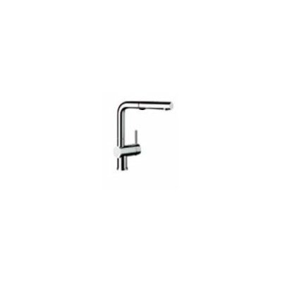 Linus Single Handle Deck Mounted Standard Kitchen Faucet with Pull Out and Dual Spray Finish: Chrome