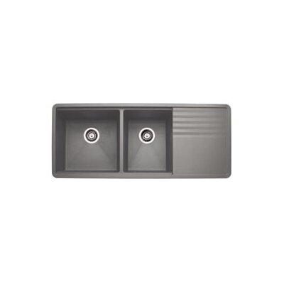 Precis 48 x 20 Multilevel Kitchen Sink Finish: Metalic Gray