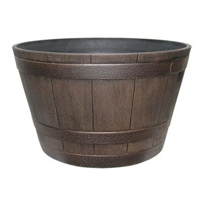 Resin Barrel Planter STPHDR002550