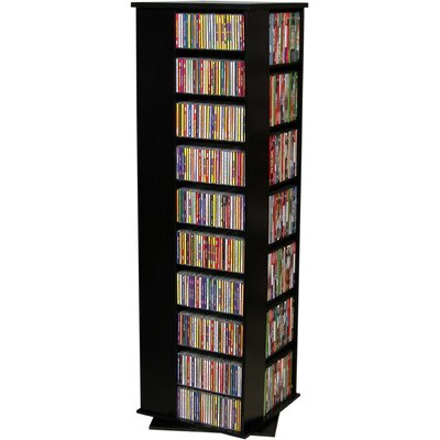 Entertainment 1160 CD Multimedia Revolving Tower Color: Black with Oak Top