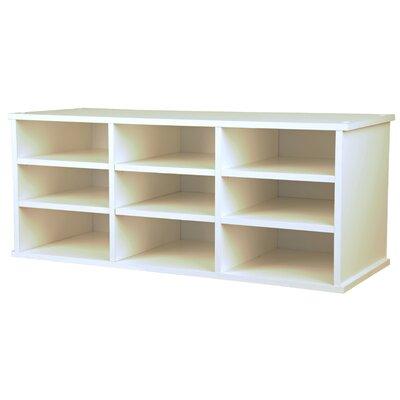 VHZ Office Nine Compartment Desk Organizer Finish: White