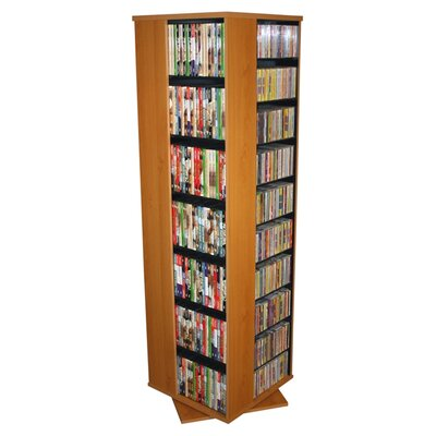 Entertainment 1160 CD Multimedia Revolving Tower Color: Oak
