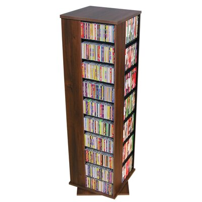 Entertainment 1160 CD Multimedia Revolving Tower Finish: Walnut