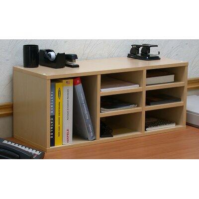 VHZ Office Nine Compartment Desk Organizer Finish: Oak