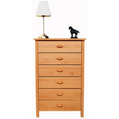 Easy financing Compressed Wood 6 Drawer Chest Fini...