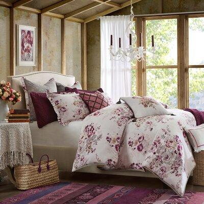 Vintage Floral Comforter Set Size: King