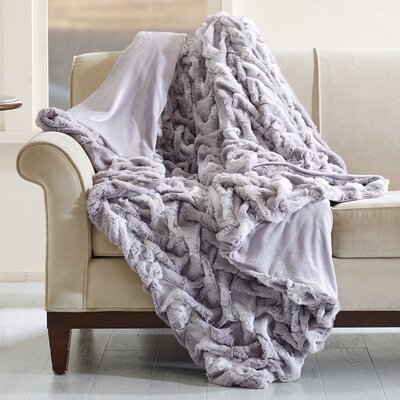 Lifestyle Ruched Throw Color: Gray