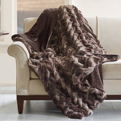 Lifestyle Ruched Throw Color: Brown