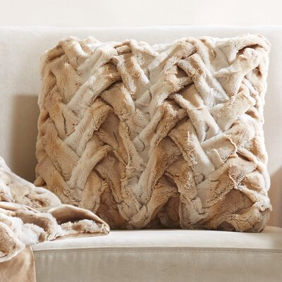 Lifestyle Ruched Throw pillow Color: Tan