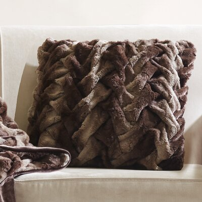 Lifestyle Ruched Throw pillow Color: Brown
