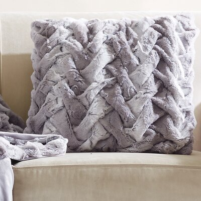 Lifestyle Ruched Throw pillow Color: Gray