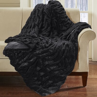 Lifestyle Ruched Throw Color: Black