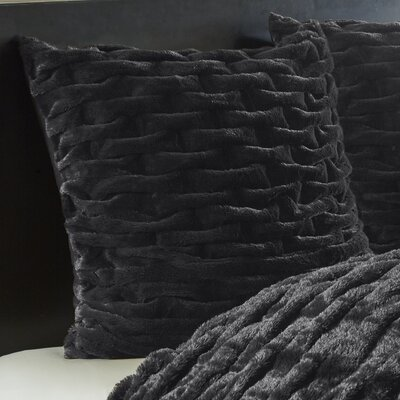 Lifestyle Ruched Sham Color: Black