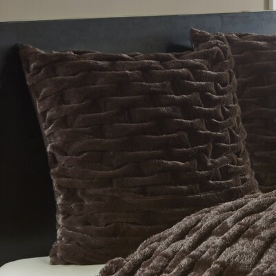 Lifestyle Ruched Sham Color: Brown
