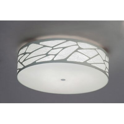 Grace 3-Light Flush Mount Size: 7.87 H x 27.56 W x 27.56 D