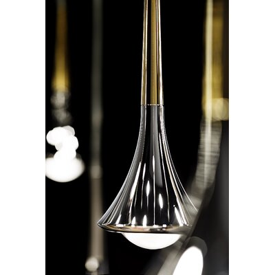 Rain 7-Light LED Cluster Pendant Finish: Gold