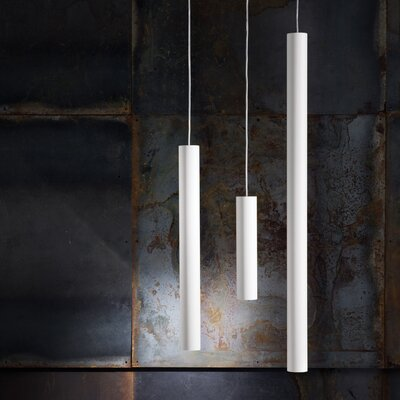 A-Tube 1-Light Cascade Pendant Size: 11.81 H x 2.36 W, Finish: Bronze