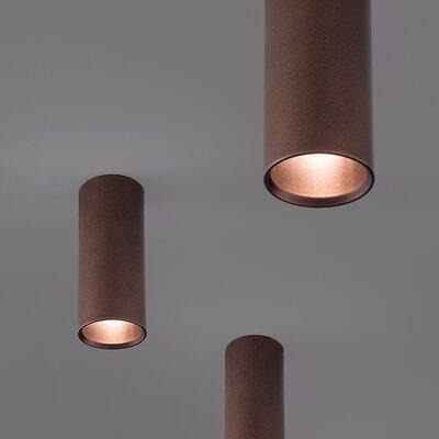 A-Tube 1-Light Flush Mount Finish: Bronze, Shade Size: 11.81 H x 2.36 W x 2.36 D