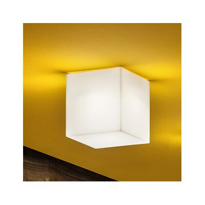 Beetle 1-Light Wall / Ceiling Sconce Shade Color: White