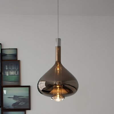 Sky-Fall 1-Light Schoolhouse Pendant Shade Color: Metallic Copper