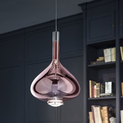 Sky-Fall 1-Light Schoolhouse Pendant Shade Color: Rose Gold