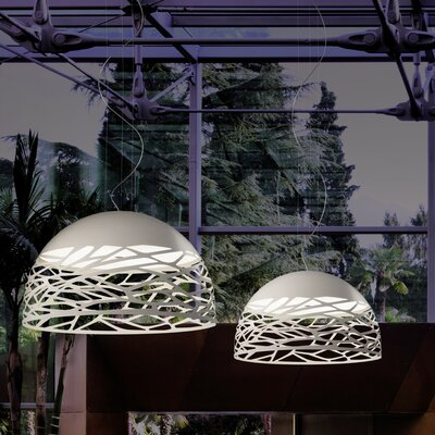 Kelly 3-Light Bowl Pendant Finish: White
