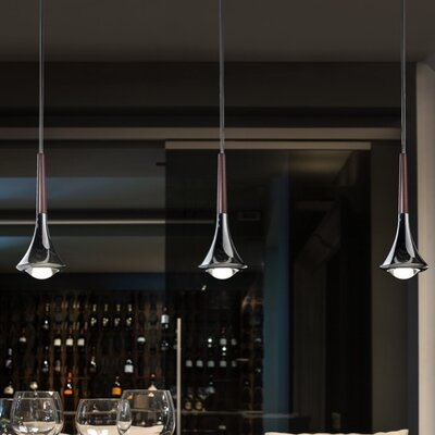 Rain 5-Light LED Cluster Pendant Finish: Bronze