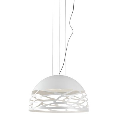 Kelly 3-Light Inverted Pendant Finish: White