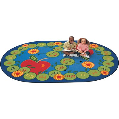 Literacy ABC Caterpillar Kids Area Rug Rug Size: Oval 83 x 118