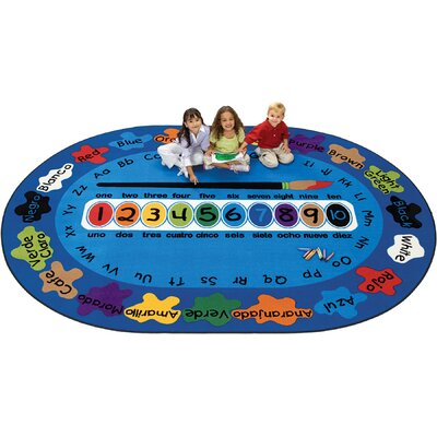 Bilingual Spanish Paint by Numero Kids Area Rug Rug Size: 69 x 95