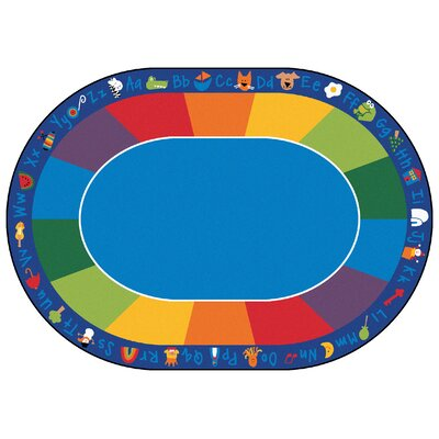 Printed Fun Area Rug with Phonics Horizontal Rug Size: 83 x 118