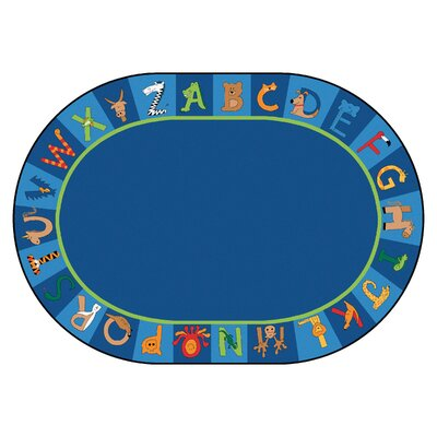 Printed A to Z Animal Area Rug Rug Size: Oval 83 x 118