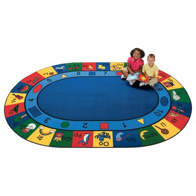 Emerado Blocks of Fun Area Rug Rug Size: Oval 69 x 95
