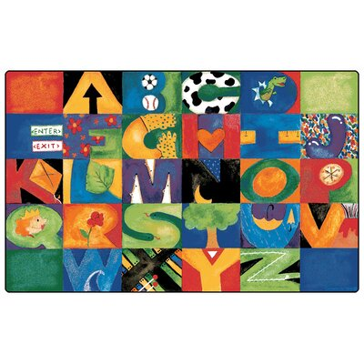 Printed Hide nSeek ABC Area Rug Rug Size: 84 x 134