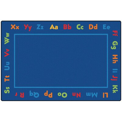 Value Plus Alphabet Area Rug Rug Size: 8 x 12