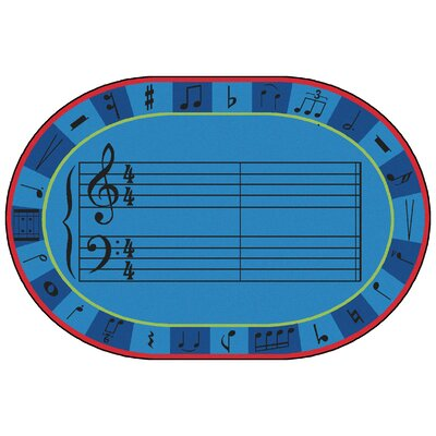 Value Plus A-Sharp Music Area Rug Rug Size: 6 x 9